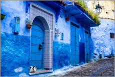 Foam board print  Blue door in Chefchaouen, Morocco - Jolly Sienda