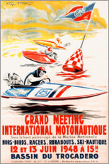 Aluminium print  International motorboat sport (french) - Advertising Collection