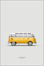 Canvas print  Yellow bus - Advertising Collection