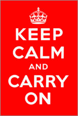 Premium poster Keep calm and carry on