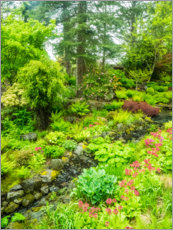 Premium poster Japanese garden with brook
