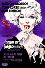 Premium poster Some like it hot (danish)