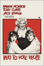 Premium poster Some like it hot (Croatian)