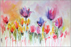 Wall sticker  Tulip garden - Anne Farrall Doyle