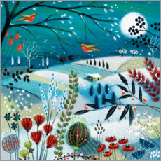 Premium poster  Field in the moonlight II - Jo Parry