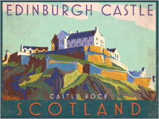 Aluminium print  Edinburgh Castle - Jo Parry
