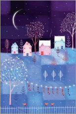 Foam board print  Winter night - Jo Parry