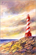 Premium poster  Lighthouse on the cliffs - Estelle Corke