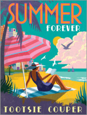 Wood print  Forever summer - Jo Parry