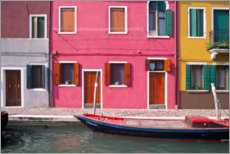 Premium poster Colorful house facades of Burano