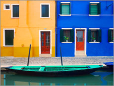 Premium poster Colorful house facades of Burano III