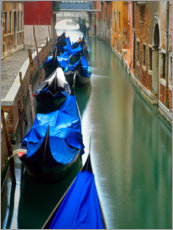 Premium poster Gondolas are in the Canal III