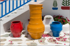 Acrylic print  Stairs and pots - Jaynes Gallery