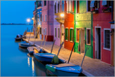 Premium poster Blue hour in Burano