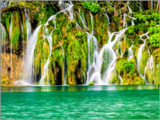 Premium poster  Waterfalls in the Plitvice Lakes National Park - Terry Eggers