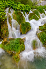 Aluminium print  Waterfalls in the Plitvice National Park - Jaynes Gallery