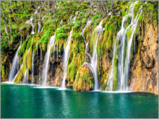 Wood print  Waterfalls at the Plitvice Lakes - Terry Eggers