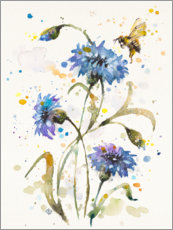 Foam board print  Cornflower & Bumblebee - Sillier Than Sally