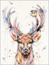 Wood print  Deery Me - Sillier Than Sally