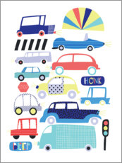 Premium poster Colorful cars