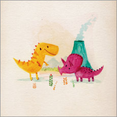 Gallery print  Dino friends - Michael Buxton