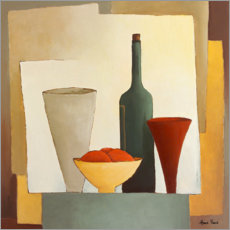 Premium poster Still life with wine