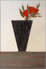 Wood print  Still life with tulips - Hans Paus
