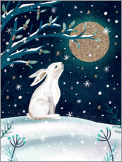 Aluminium print  Greetings from the hare - Claire Mcelfatrick