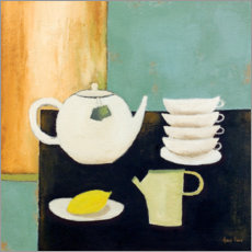 Premium poster  Still life with lemon and tea - Hans Paus