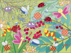 Canvas print  Colorful insect world - Jannine Rundle