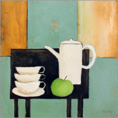 Premium poster  Still life with green apple - Hans Paus