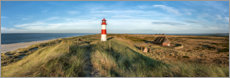 Wood print  Lighthouse on the elbow on Sylt - Jan Christopher Becke