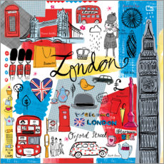 Premium poster  Global Travel - London - Farida Zaman
