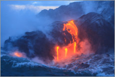 Canvas print  Kilauea lava flow on Hawaii - Stuart Westmorland