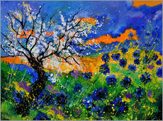 Wall sticker  feild of blue cornflowers - Pol Ledent