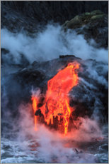 Canvas print  Lava flow in Hawaii - Stuart Westmorland