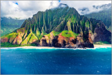 Canvas print  Kalalau Beach on the Na Pali Coast - Russ Bishop