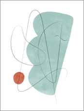 Premium poster  Abstract composition X - Nouveau Prints