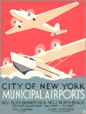 Canvas print  Municipal Airports - Travel Collection