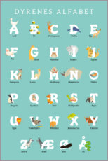 Premium poster  Animal alphabet (Danish) - Kidz Collection