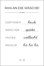 Canvas print  Wash plan (german) - Typobox