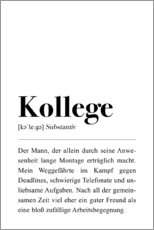 Acrylic print  Colleague Definition (German) - Pulse of Art