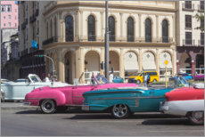 Premium poster Oldtimer in front of the Parque Central
