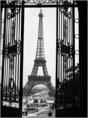 Canvas print  Eiffel Tower, ca 1920