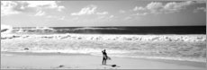 Canvas print  Surfer on the beach