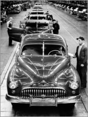 Premium poster Buick assembly line