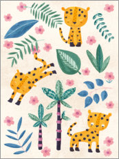 Foam board print  Young jaguars in the jungle - Marta Munte
