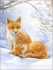 Gallery print  Little foxes - Lisa Alderson