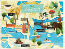 Premium poster  City Map Stockholm - Alec Macdonald