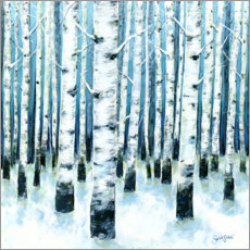 Gallery print  Birch forest - Sarah Stoker